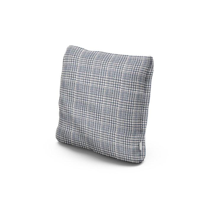 "18"" Outdoor Throw Pillow in Scottkins Houndstooth"