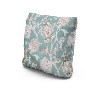 "22"" Throw Pillow in Botanical Gardens Spearmint"