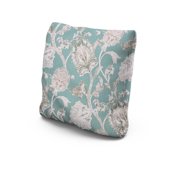 "22"" Outdoor Throw Pillow in Botanical Gardens Spearmint"