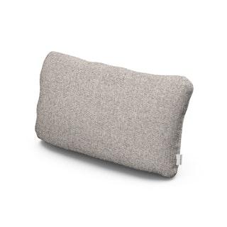 Outdoor Lumbar Pillow in Weathered Tweed