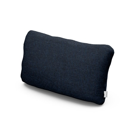 Outdoor Lumbar Pillow in Marine Indigo