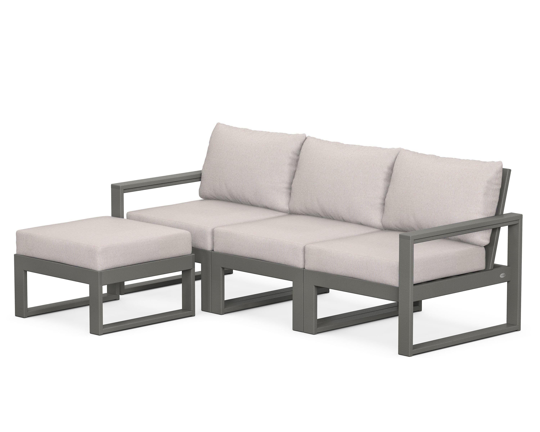 EDGE 4-Piece Modular Deep Seating Set with Ottoman