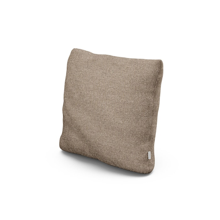 """18"""" Outdoor Throw Pillow in Spiced Burlap"""