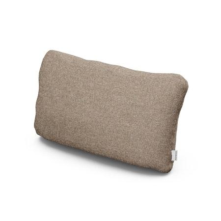 Outdoor Lumbar Pillow in Spiced Burlap
