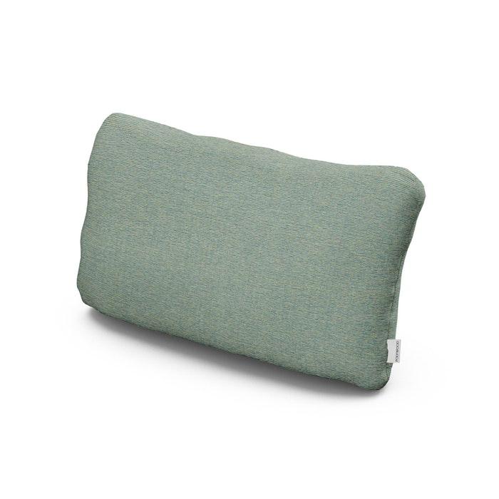 Outdoor Lumbar Pillow in Deckhand Lagoon