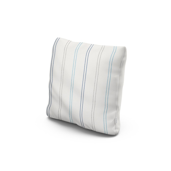"""18"""" Outdoor Throw Pillow in Marine High Tide"""