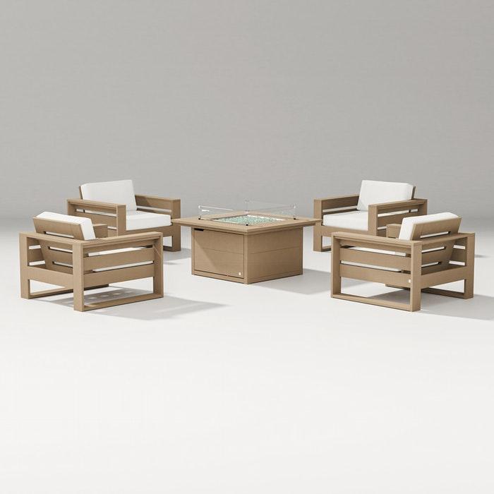 Latitude 5-Piece Lounge Fire Table Set