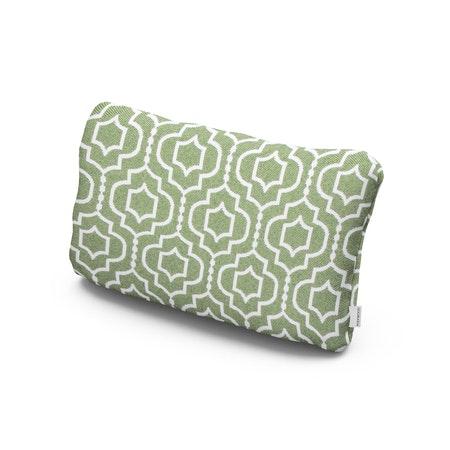 Outdoor Lumbar Pillow in Tensil Moss