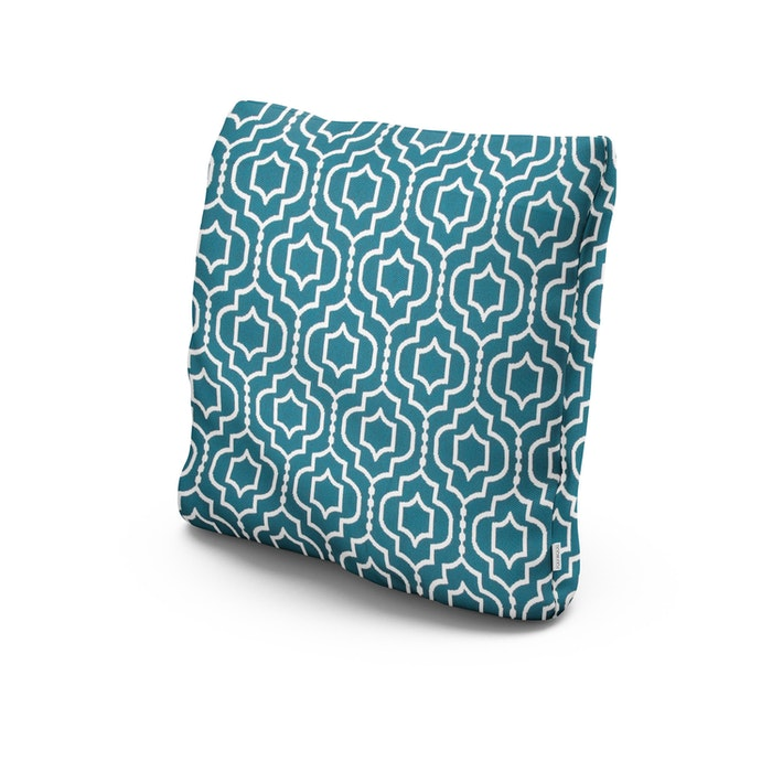 "20"" Outdoor Throw Pillow in Tensil Lagoon"