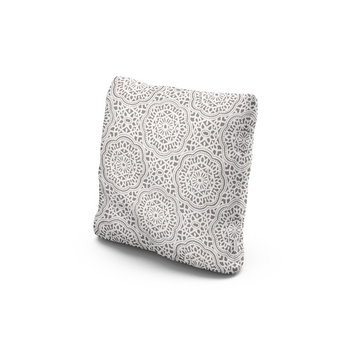 """18"""" Outdoor Throw Pillow in Gwyneth Pewter"""