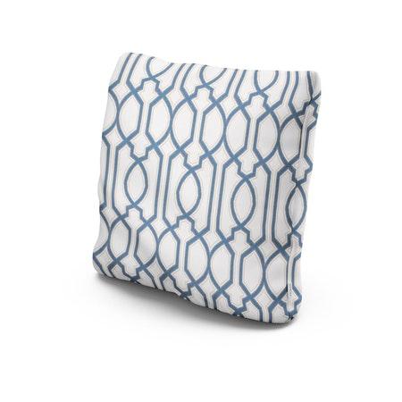 """20"""" Outdoor Throw Pillow in Chelsey Trellis Cobalt"""