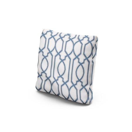 """18"""" Outdoor Throw Pillow in Chelsey Trellis Cobalt"""