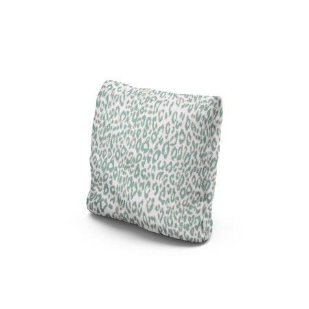 "16"" Outdoor Throw Pillow in Safari Spearmint"