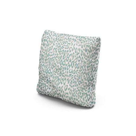 "18"" Outdoor Throw Pillow in Safari Spearmint"