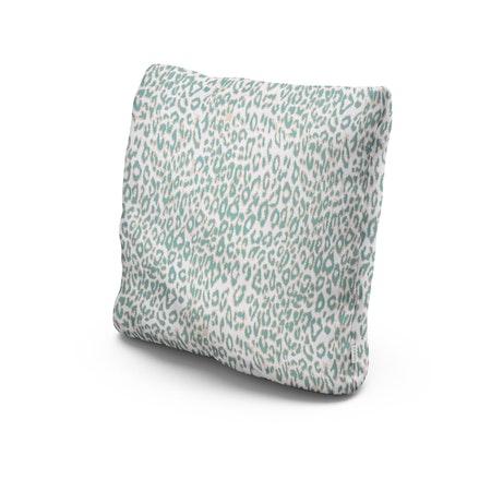 "22"" Outdoor Throw Pillow in Safari Spearmint"