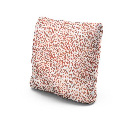 """22"""" Outdoor Throw Pillow in Safari Coral"""