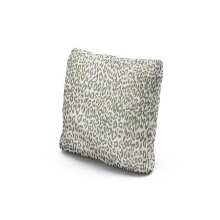 """18"""" Outdoor Throw Pillow in Safari Pistachio"""
