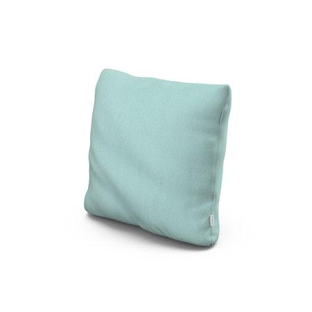 """18"""" Outdoor Throw Pillow in Primary Colors Teal"""