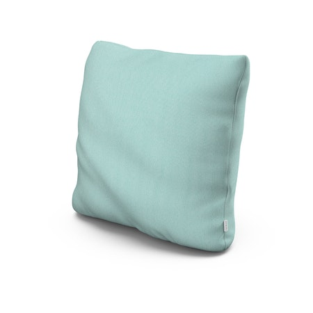 """22"""" Outdoor Throw Pillow in Primary Colors Teal"""
