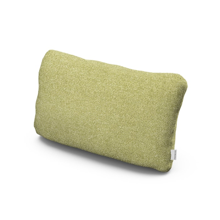 Outdoor Lumbar Pillow in Chartreuse Boucle