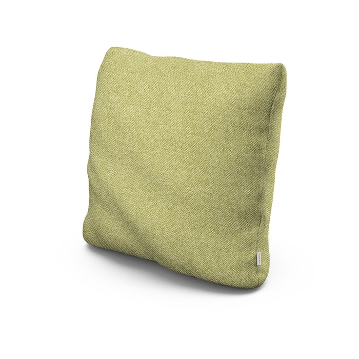 """22"""" Outdoor Throw Pillow in Chartreuse Boucle"""