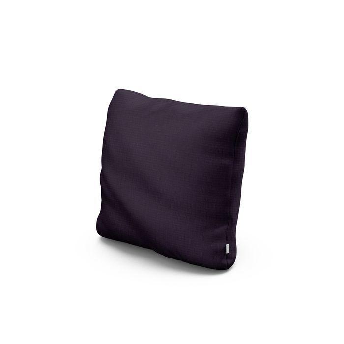 """16"""" Outdoor Throw Pillow in Navy Linen"""