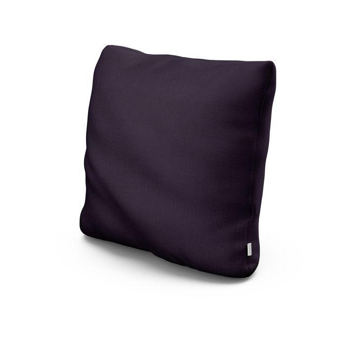 """20"""" Outdoor Throw Pillow in Navy Linen"""