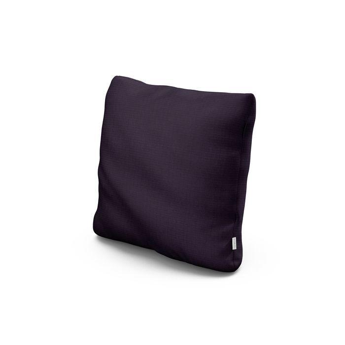 """18"""" Outdoor Throw Pillow in Navy Linen"""