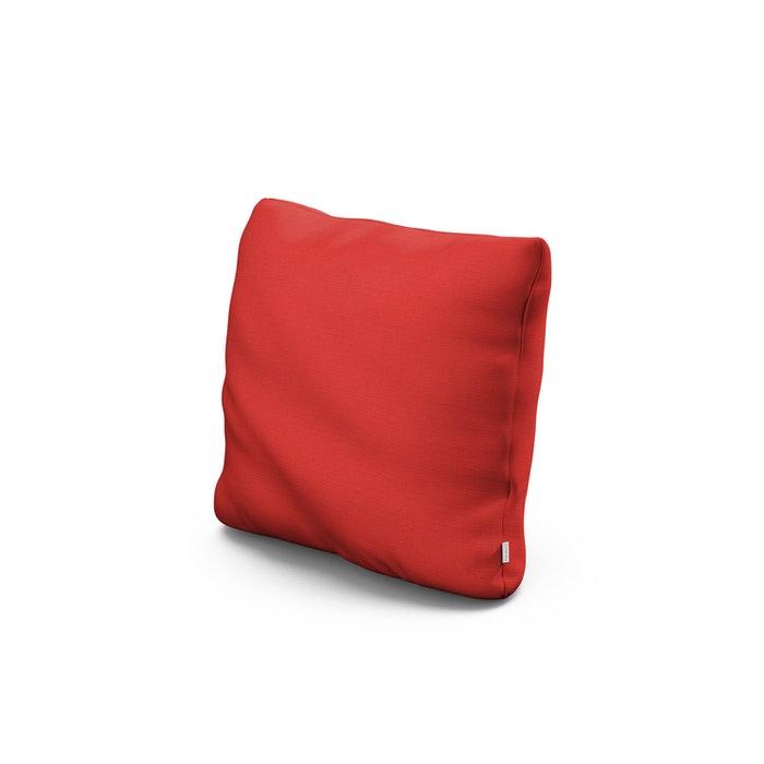"""16"""" Outdoor Throw Pillow in Crimson Linen"""