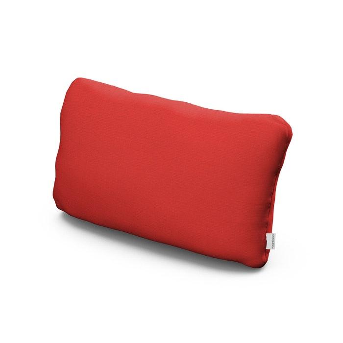 Outdoor Lumbar Pillow in Crimson Linen