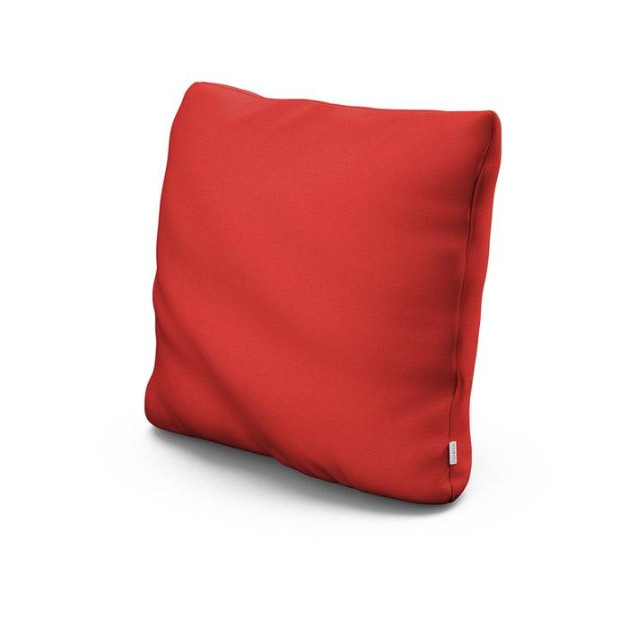 """22"""" Outdoor Throw Pillow in Crimson Linen"""